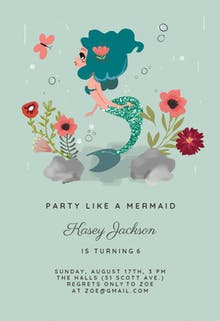 Free birthday invitation templates greetings island mermaid birthday invitation filmwisefo Gallery