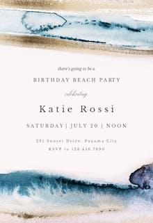 Modern Fluid - Birthday Invitation