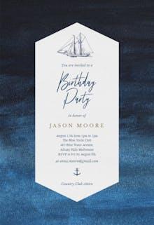 Nautical Yacht - Birthday Invitation