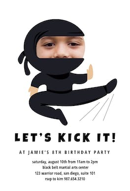 Ninja - Birthday Invitation