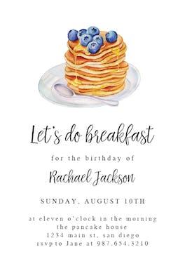 Pancake breakfast - Birthday Invitation