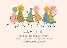 Party Hats - Birthday Invitation