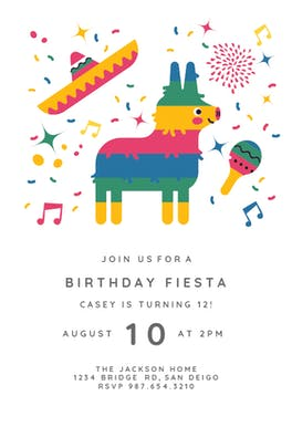 Pinata fiesta - Birthday Invitation