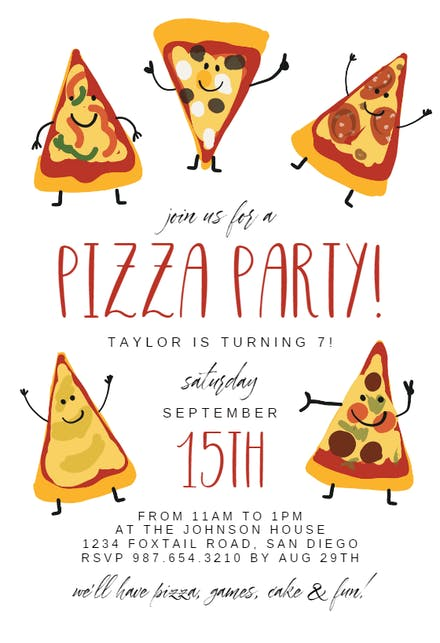 Pizza Party Invitations Template from images.greetingsisland.com