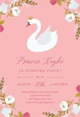 Princess Swan - Invitación De Cumpleaños