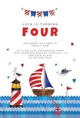 Sailboat - Birthday Invitation