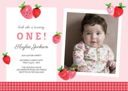 Baby Birthday Invitation Templates (Free) | Greetings Island