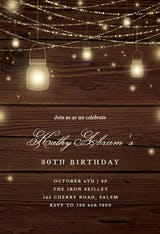 Strings of lights - Birthday Invitation