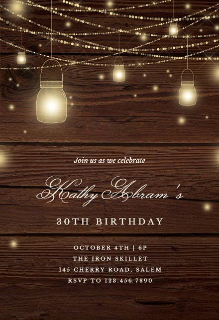 Birthday Invitation Templates For Him Free