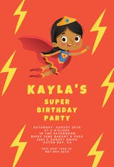 Super birthday girl - Birthday Invitation