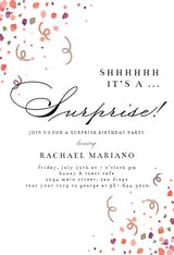 Surprise Confetti - Birthday Invitation