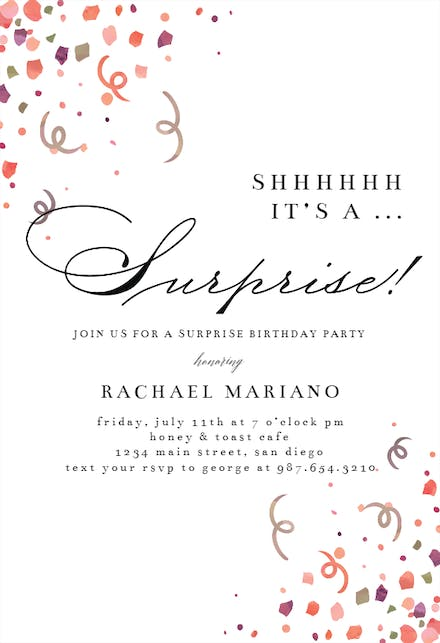 Birthday Invitation Templates For Her (Free)   Greetings Island