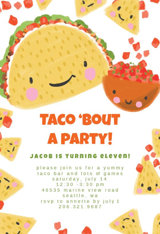 Taco Bout Birthday Invitation Template Free Greetings Island