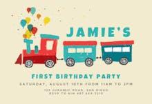 Train of joy - Invitación de Cumpleaños