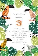 Tropical Birds - Birthday Invitation