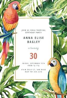 Tropical garden - Birthday Invitation