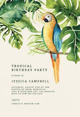 Tropical parrot - Invitación De Cumpleaños