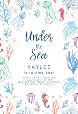 Under The Sea - Birthday Invitation