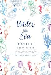 Under The Sea - Birthday Invitation