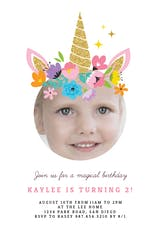 Unicorn joy - Birthday Invitation