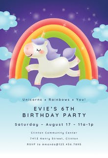 Unicorn Joy - Party Invitation