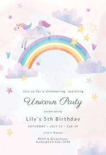 Invitation Template - Unicorn Party