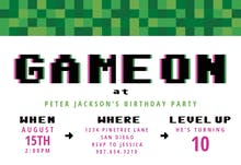 Video Game Party - Birthday Invitation