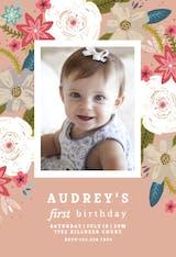 Vivid floral - Birthday Invitation