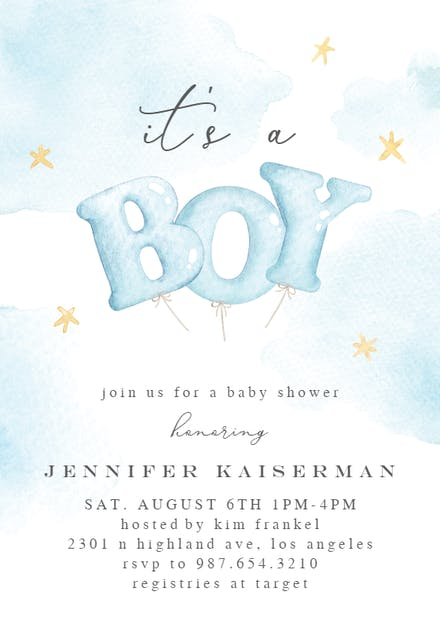 Baby Shower Invitations For Boys Free