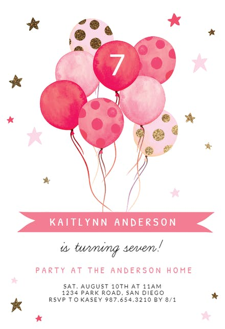 Birthday Invitation Templates Free Greetings Island