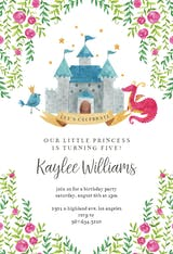 Watercolor Princess - Birthday Invitation