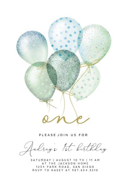 1st Birthday Invitation Templates Free