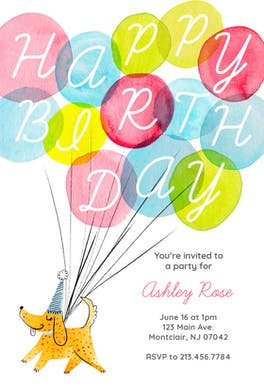 Woof - Birthday Invitation