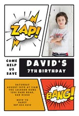 Zap bang - Birthday Invitation