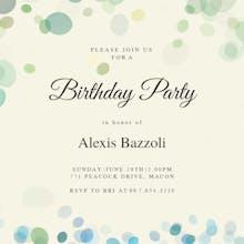 Filtered Bubbles - Birthday Invitation