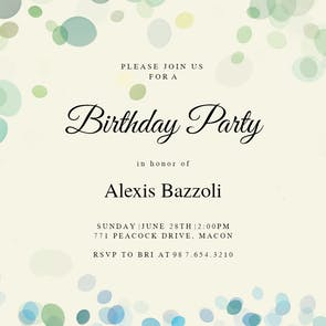 Filtered Bubbles - Birthday Invitation