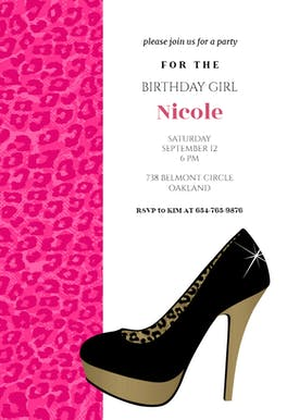 Leopard Look - Birthday Invitation