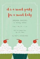 Sweet Treats - Birthday Invitation