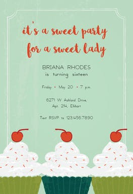 Sweet Treats - Birthday Invitation
