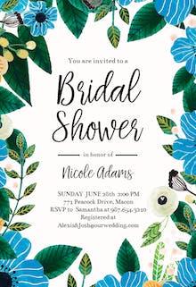 Blue & Orange - Bridal Shower Invitation