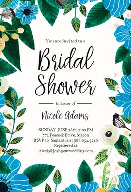 Blue & Orange - Bridal Shower Invitation