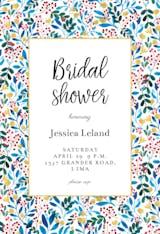 Blue & Red - Bridal Shower Invitation