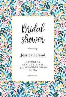Blue & Red - Bridal Shower Invitation Template