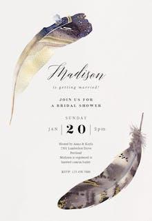 Boho Feathers - Bridal Shower Invitation