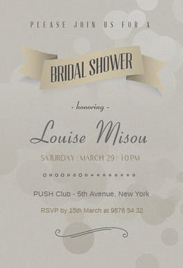 Classy Shower - Bridal Shower Invitation