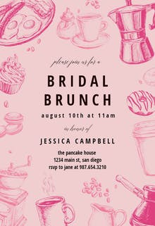 Coffee & Cakes - Brunch & Lunch Invitation