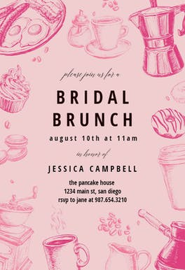 Coffee & Cakes - Bridal Shower Invitation