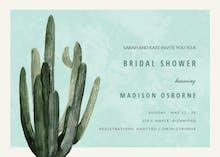 Desert cactus - Bridal Shower Invitation
