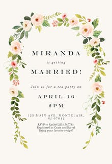 Falling flowers - Bridal Shower Invitation