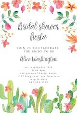 Flowerly Fiesta - Bridal Shower Invitation